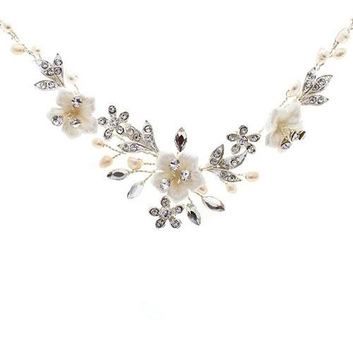 0ec4a03cd Petal Floral Wedding Necklace - Zaphira Bridal