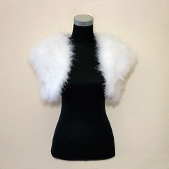 White Feather Bridal Bolero