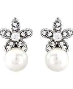 Pearl Elegance Wedding Earrings