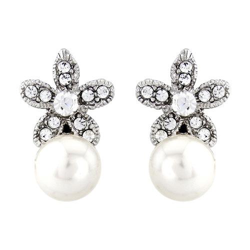 Pearl Elegance Wedding Earrings