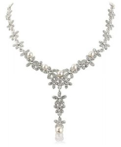 Carmen Crystal Pearl Wedding Necklace