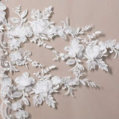 Floral Lace Wedding Veil S117