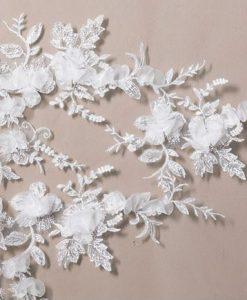 Floral Lace Wedding Veil S117