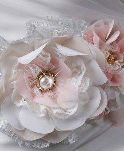 Pink Floral Bridal Sash