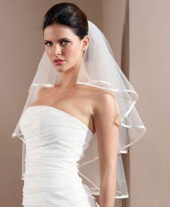 Satin Edge Wedding Veil poirier