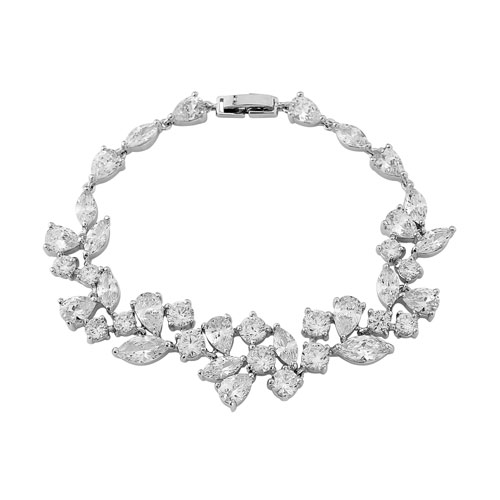 Cubic Zirconia Wedding Bracelet