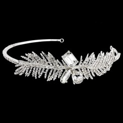 Crystal Feather Headband