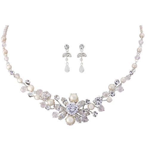 crystal wedding jewellery