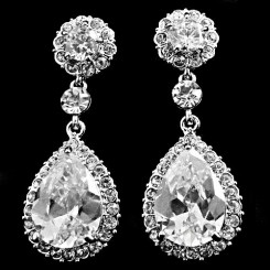 Crystal Starlet Wedding Earrings