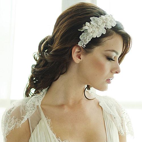 Fabric Flower Headband Gianna