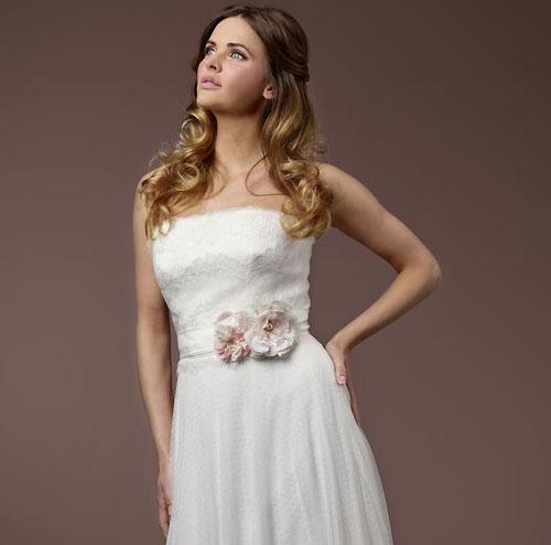 Pink Floral Bridal Sash Zaphira Bridal