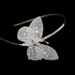 Keira Butterfly Bridal Headband by rosie willett
