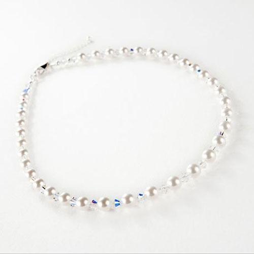 Swarovski AB Crystal and Pearl Jewellery Set - Zaphira Bridal f4a7f377c