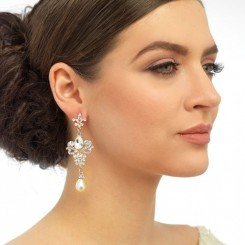 Vintage Chandelier Wedding Earrings