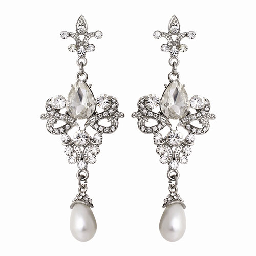 wedding earrings-vintage chandelier
