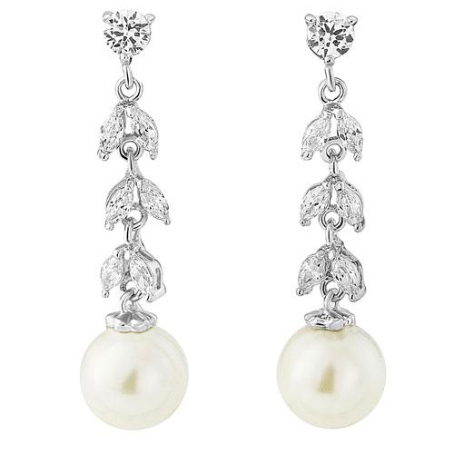 Cubic Zirconia Bridal Earrings