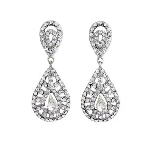 Clip On Vintage Bridal Earrings Zaphira Bridal