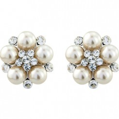 Clip On Pearl Wedding Earrings