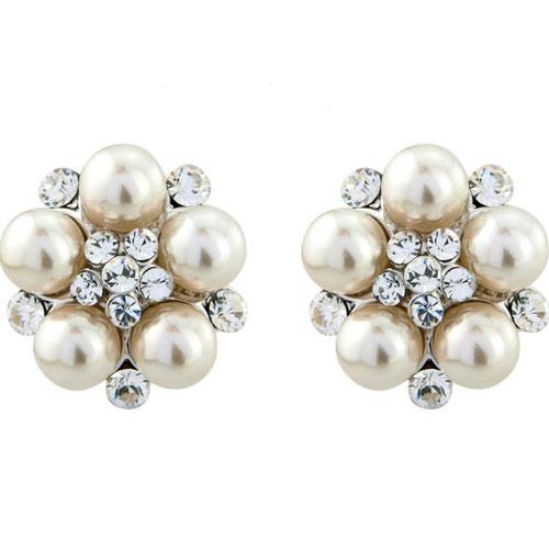 Clip On Pearl Wedding Earrings