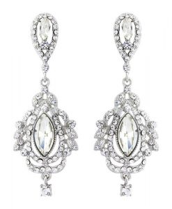 Vintage chandelier bridal earrings