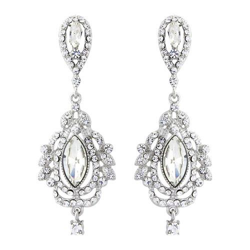Vintage chandelier bridal earrings