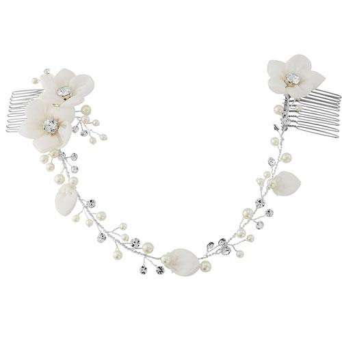 floral bridal headpiece