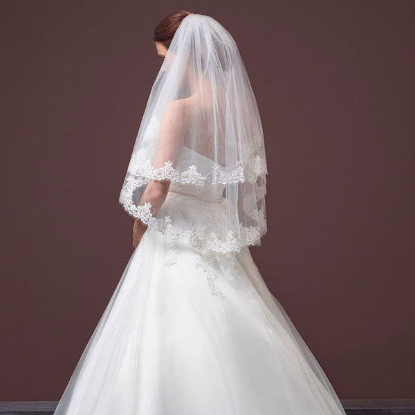 9e64e76df9 Lace Wedding Veil S100 2 - Zaphira Bridal