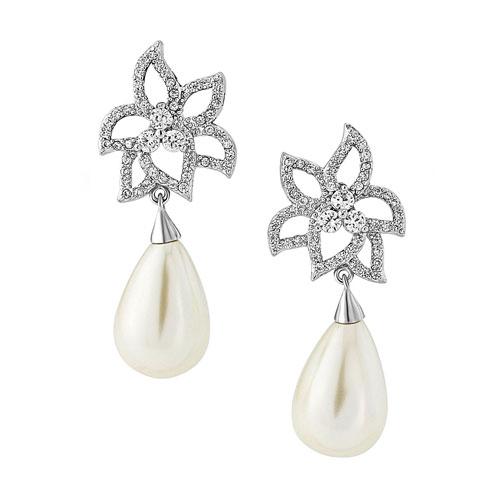 Vintage Pearl Wedding Earrings