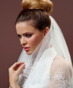 Embroidered Wedding Veil S132