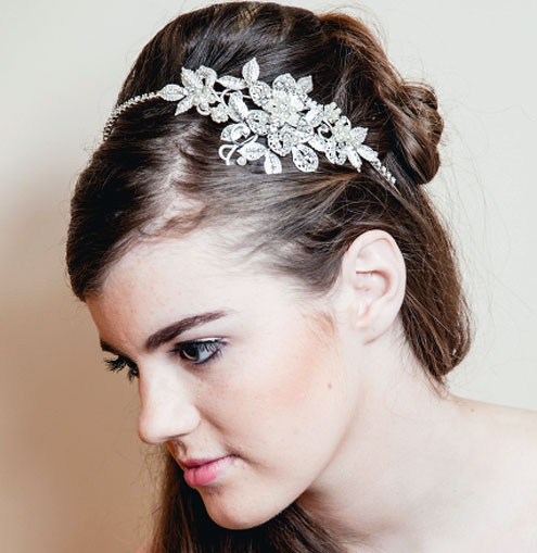 Warren York 5062 Wedding Side Tiara - Zaphira Bridal 0e0d66f4e33