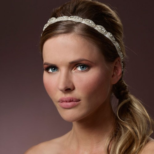 crystal applique bridal headband bb-8369 poirier