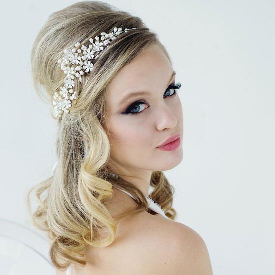 Floral wedding hair vine serena zaphira bridal floral wedding hair vine junglespirit Choice Image