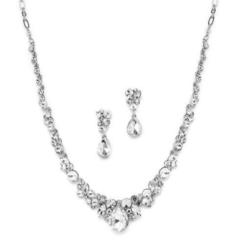 Amantea Crystal Wedding Jewellery Set
