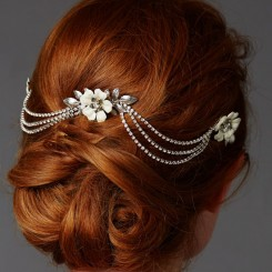 Triple Comb Bridal Headpiece