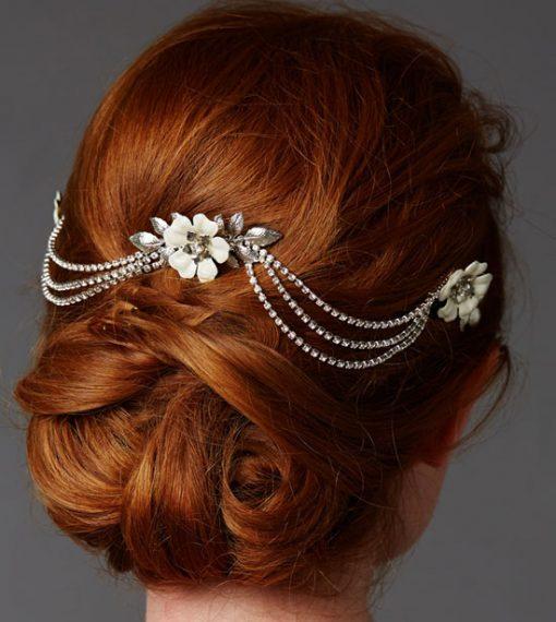 Triple Comb Bridal Headpiece
