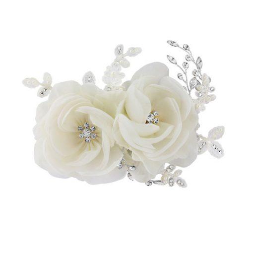 Zinnia Floral Wedding Comb
