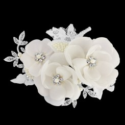 Iris Bridal Flower Comb