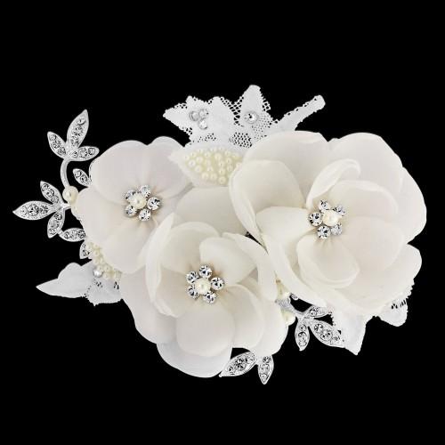 Iris Bridal Flower Comb