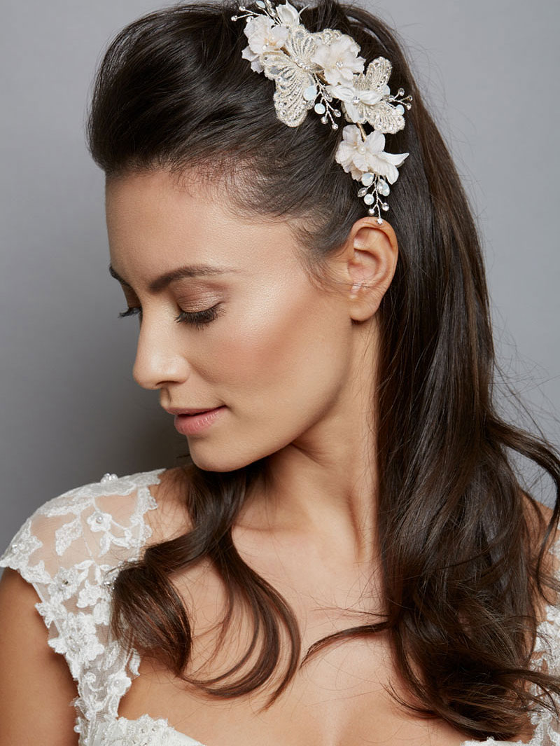 Butterfly hair accessories for weddings uk - Aw1271 Amanda Wyatt Butterfly Comb
