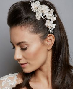 Gold & Ivory Butterfly Comb AW1271