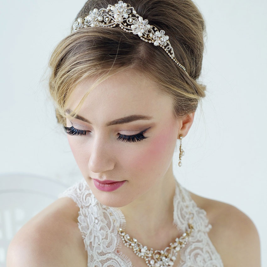 Gold Wedding Tiara - Arianna
