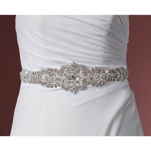 crystal wedding belt by poirier