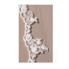 Poirier Soft 1 Layer Lace Wedding Veil - S-50-280/1