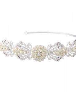 Pearl Art Deco Wedding Headband