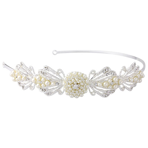 Pearl Art Deco Wedding Headband