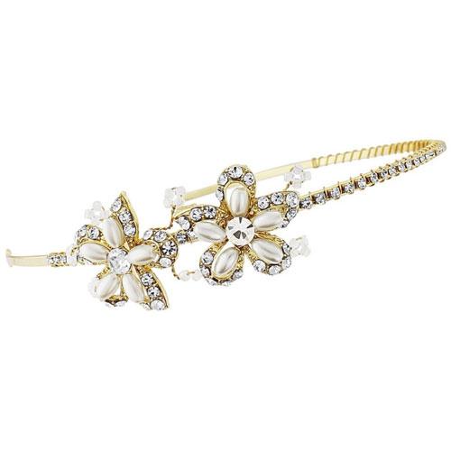 Petite Gold Bridal Headband