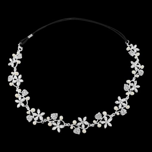 Pearl & Crystal Garland Bridal Headpiece - Marissa