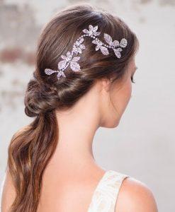 Crystal Leaf Wedding Hair Vine
