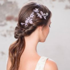 Crystal Leaf Wedding Hair Vine