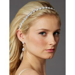Slim Crystal Bridal Ribbon Headband